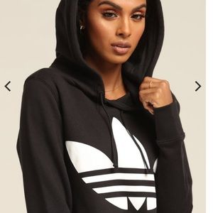 Adidas Trefoil Black and White Hoodie